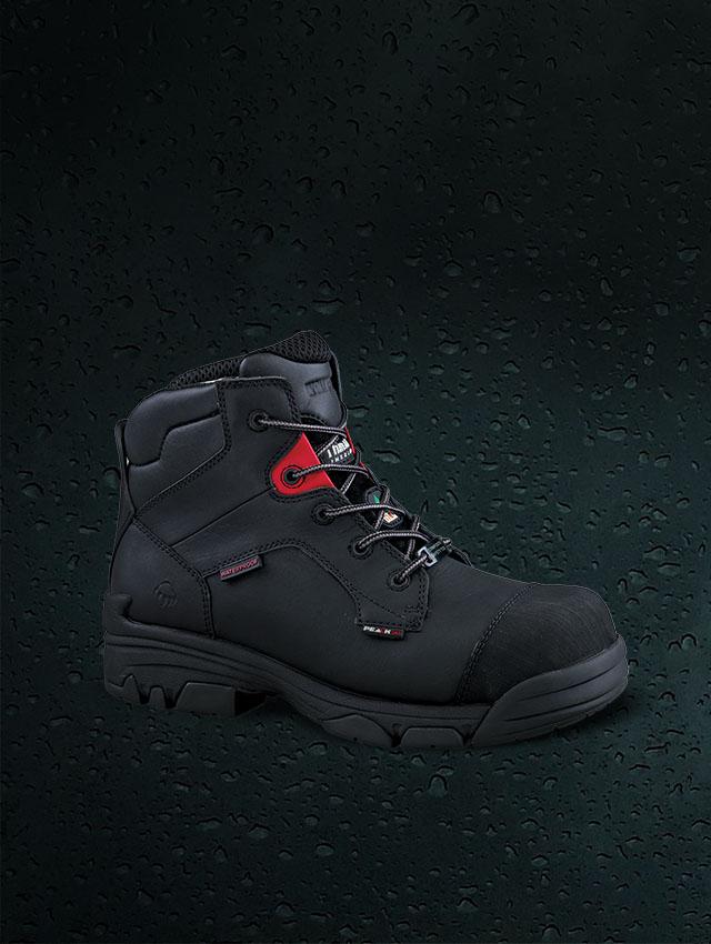 Waterproof Boot with dark backgorund.