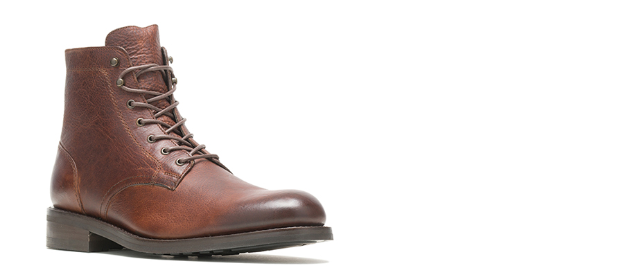 Wolverine BLVD Plain Toe in pebble brown.