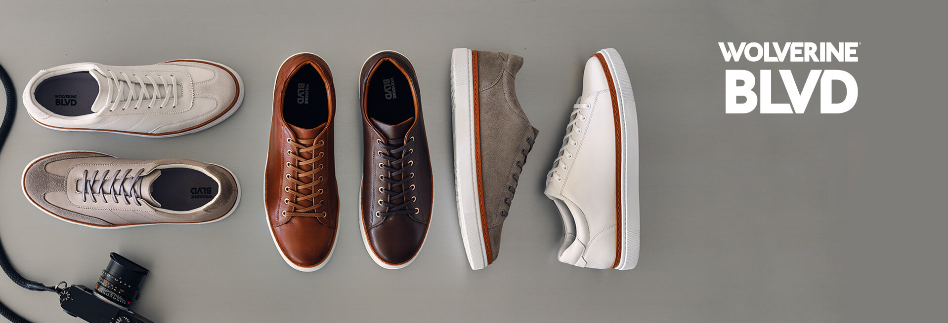 BLVD sneakers in a variety of styles and colors.