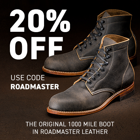 Wolverine, The original 1000 Mile Boot in Roadmaster Leather.