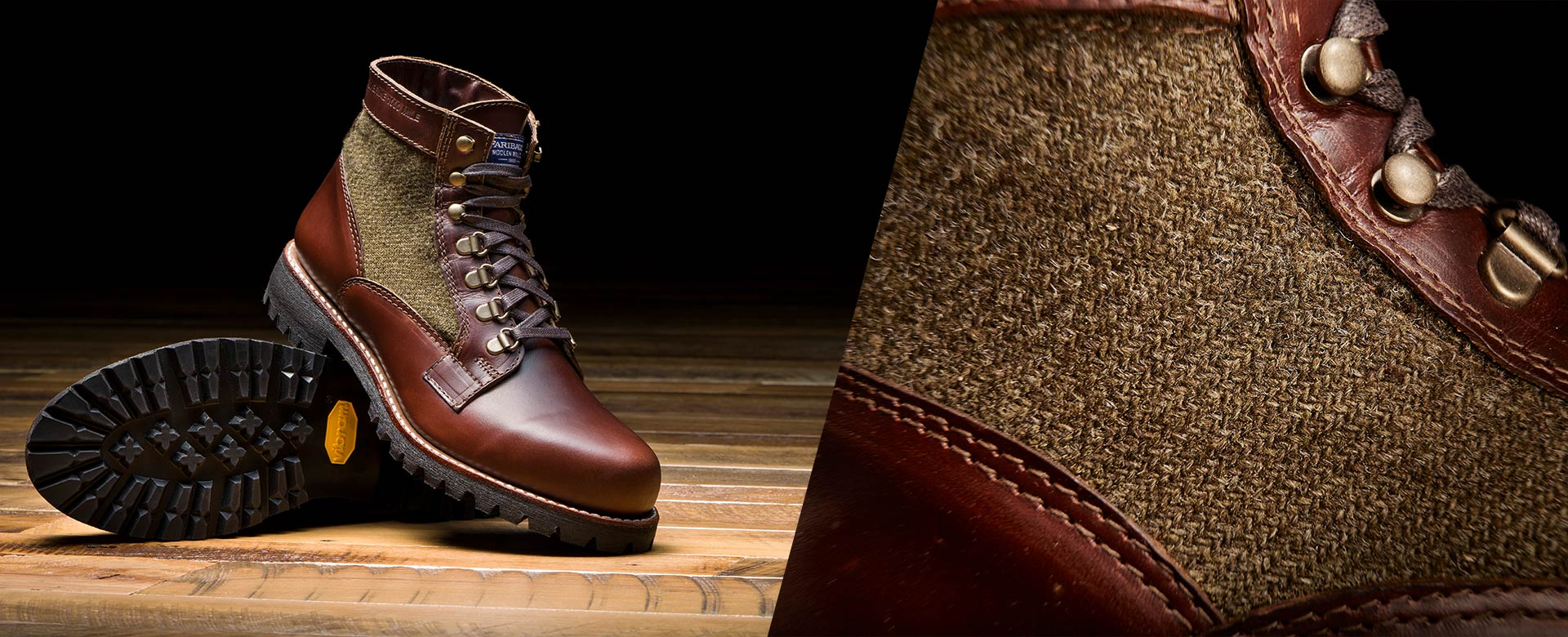 See the Collab with Wolverine 1000 Mile and Faribault Woolen Mill Co.