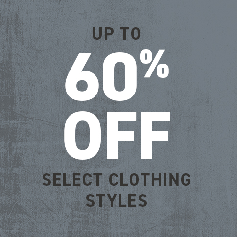 UP TO 60% OFF SELECT CLOTHING STYLES