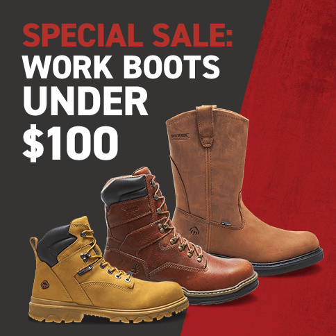 Special Sale: Work Boots Under $100
