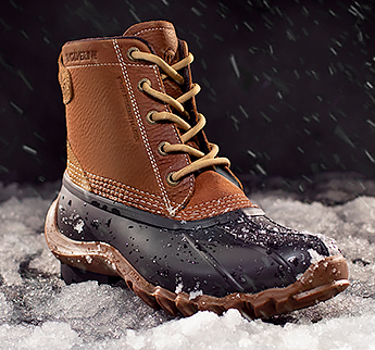 Boot in snow.