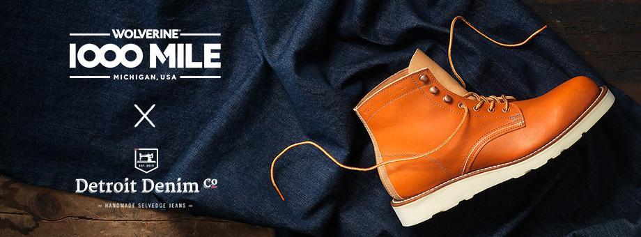 Wolverine 1000 Mile + Detroit Denim Handmade Selvedge Jeans