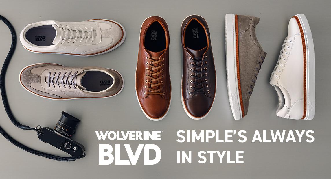BLVD Sneakers in various styles.