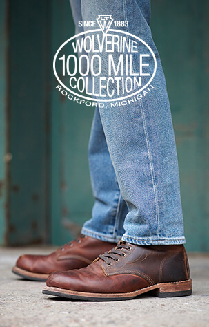 Wolverine 1000 Mile Collection. Since 1883. Rockford, Michigan