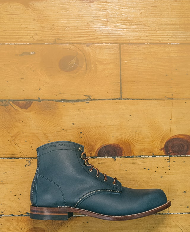 1000 Mile boot in Olive Tanned Leather.