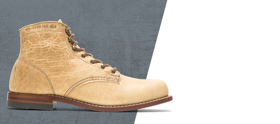 Wolverine 1000 mile olive-tanned boot.
