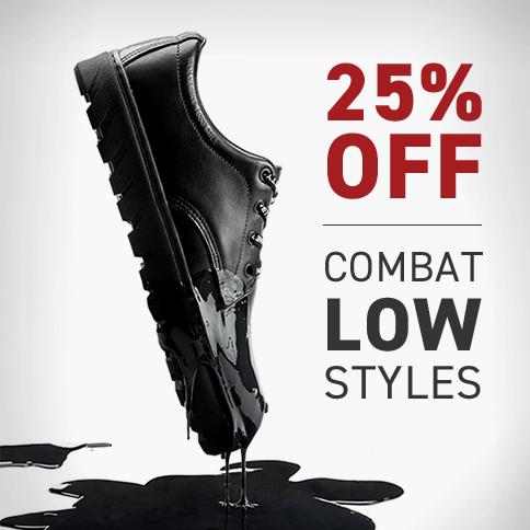 25% Off Combat Low Styles