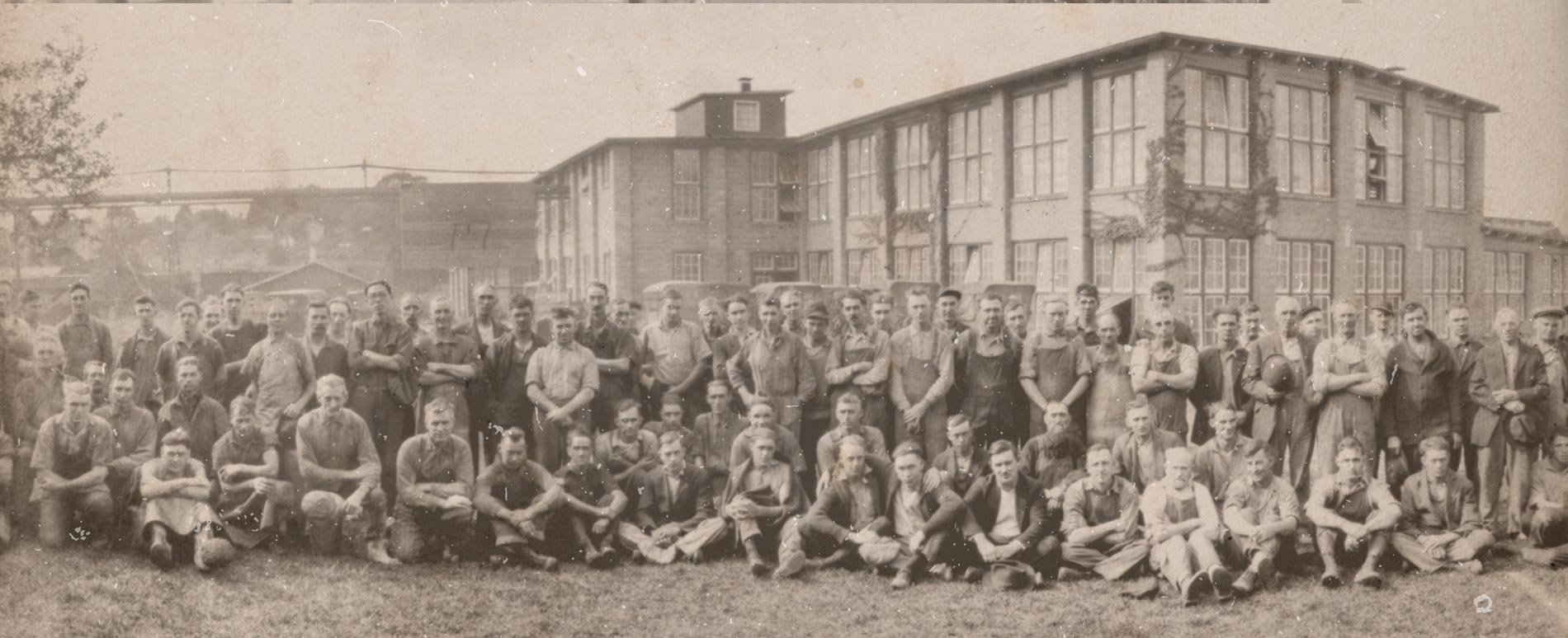 Antique Photo of Wolverine Factory Employees
