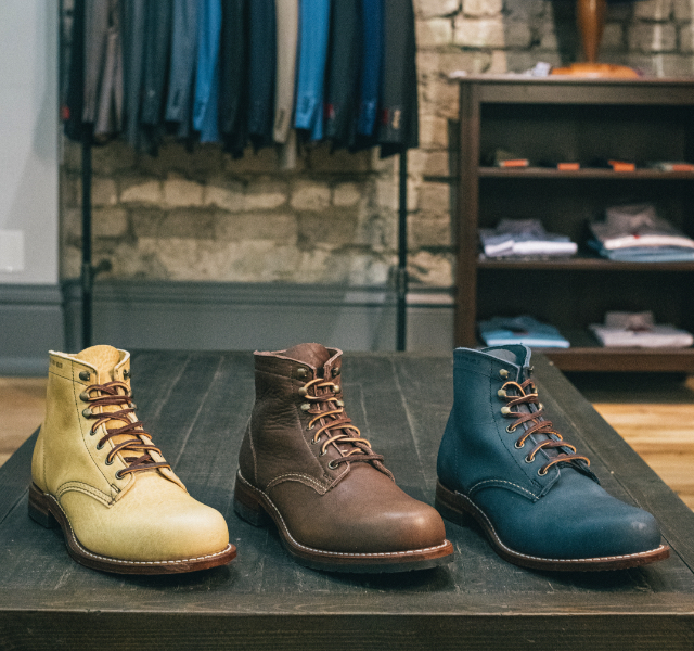 Olive-tanned leathers in various colors.