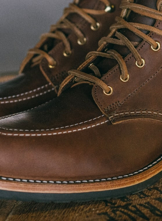 Pair of 1000 Mile x Old Rips VanWinkle boots.