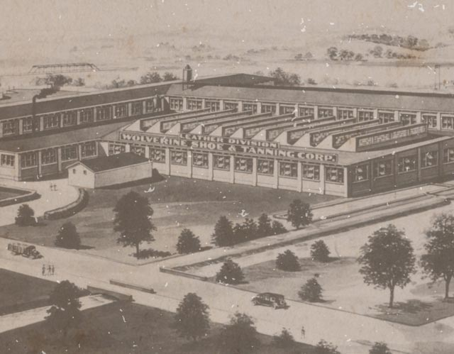 Antique Photo of Wolverine Factory Exterior