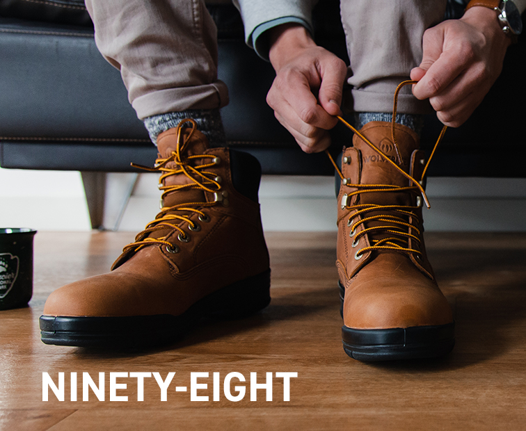 Lacing up a pair of ninety-eights.