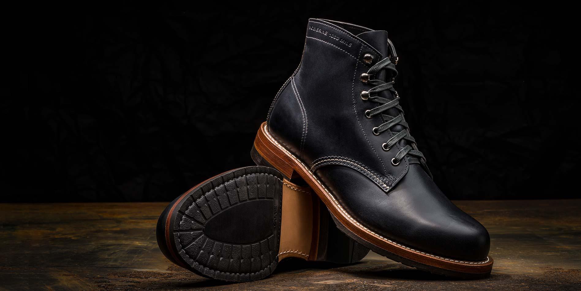 Wolverine 1000 Mile 1883 Vintage Boots D Island Shoes Slip On Mocasine Casual Brown The Evans Boot