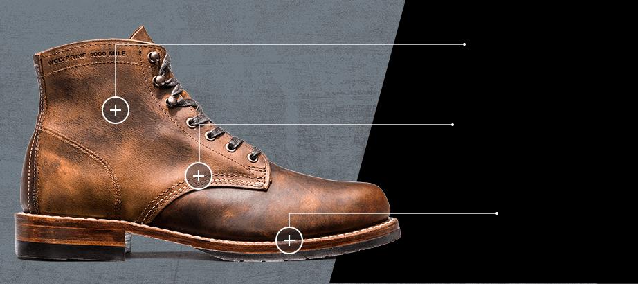 ab3e774cbfb Men - Evans 1000 Mile Boot - Vintage Boots | Wolverine