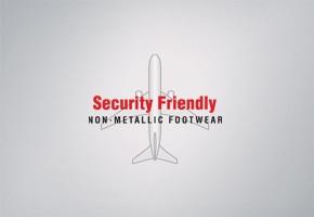 Security Friendly Non-Metallic Footwear