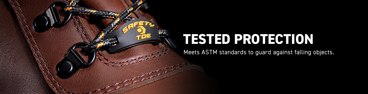 TESTED PROTECTION. Meets ASTM standard to guard against falling objects.