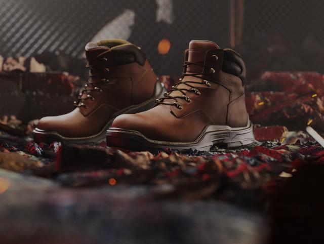 Raier boots sitting on hot lava.