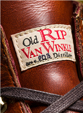 Closeup image of shoe detail.