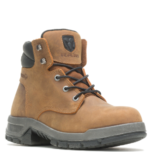 Tan boot with black accents.