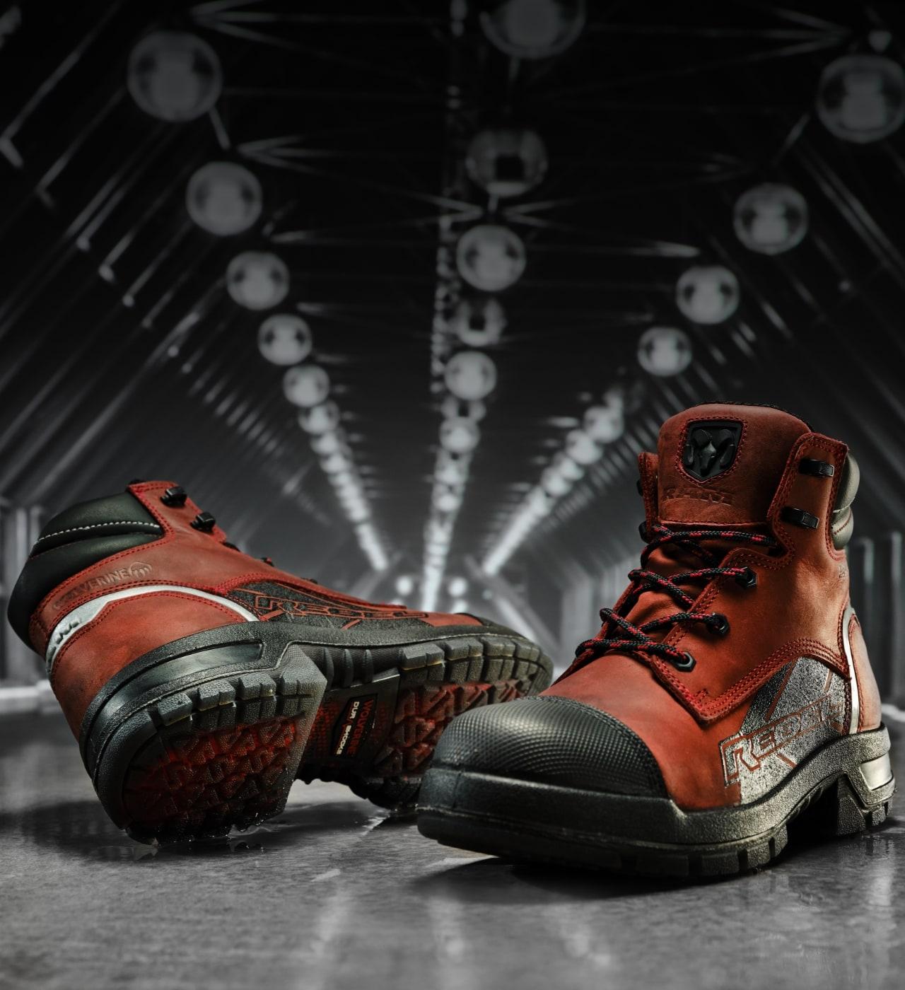 3 1000 Mile boots on display.
