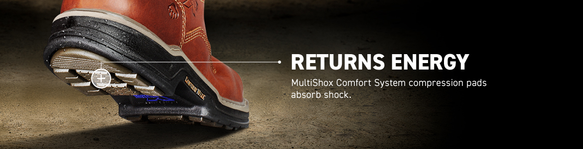 RETURNS ENERGY. MultiShox Comfort System compression pads absorb shock.