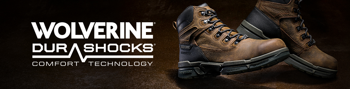 WOLVERINE DURASHOCKS. COMFORT TECHNOLOGY.