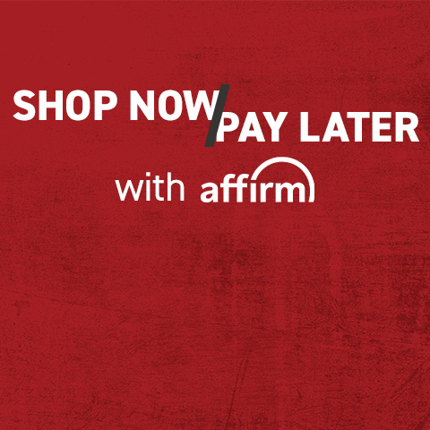 Buy now, pay later, with Affirm.