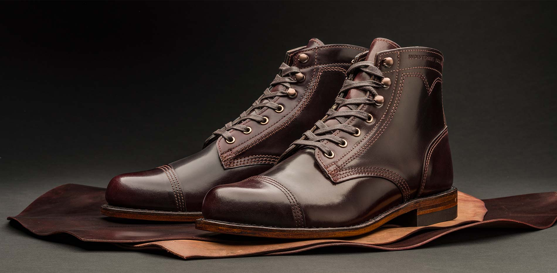 Wolverine 1000 Mile 1883 Vintage Boots D Island Shoes Casual Zappato England Suede Dark Brown See That Shell