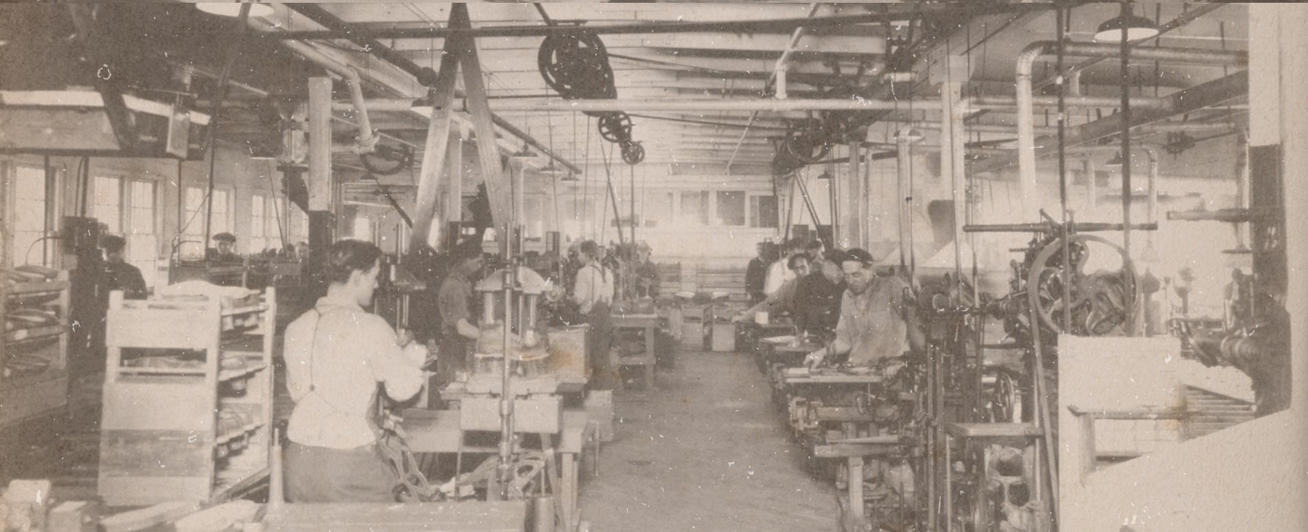 Antique Photo of Wolverine Factory Interior